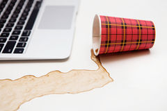 Coffee accident Stock Photography