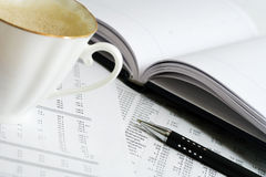 Coffee and accounting Royalty Free Stock Photo