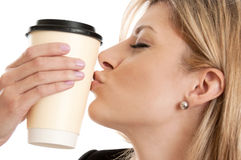 Coffee addict Stock Images