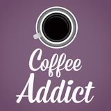 Coffee Addict Lettering Background Royalty Free Stock Images