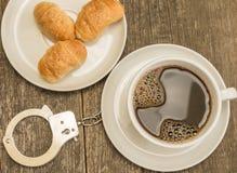 Coffee addicted royalty free stock photo