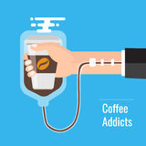 Coffee addiction concept element. Royalty Free Stock Image
