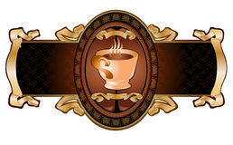 Coffee advertising banner Stock Images