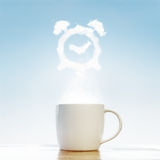 Coffee alarm clock concept Stock Photos