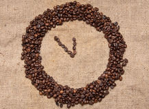 Coffee alarm clock from the grain Stock Images