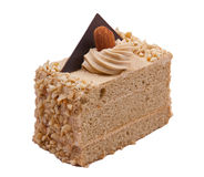 Coffee almond cake Stock Photography