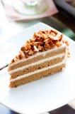 Coffee almond cake Stock Photo