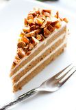 Coffee almond cake Royalty Free Stock Images