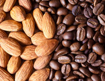 Coffee with Almonds Royalty Free Stock Image