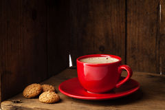 Coffee amaretti biscuits Stock Photography