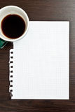 Coffee And Blank Paper Stock Images