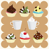 Coffee And Cakes Stock Photos