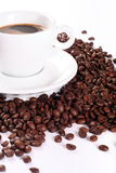 Coffee And Coffee Beans Royalty Free Stock Photo