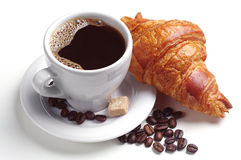 Free Coffee And Croissant Royalty Free Stock Photo - 38176055