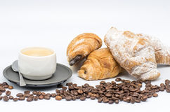 Free Coffee And Croissant Royalty Free Stock Images - 44489409