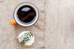 Free Coffee And Cupcake Royalty Free Stock Photography - 57004387