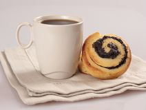 Coffee And Sweet Rolls Royalty Free Stock Photos