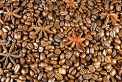 Coffee and anise. Coffee beans and seeds of anise Stock Photo
