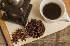 Coffee and anise Royalty Free Stock Photography