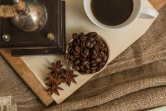 Coffee and anise Royalty Free Stock Image