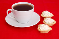 Coffee and appetizer Royalty Free Stock Image