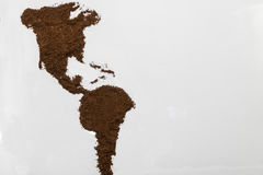 Coffee arabic mocha espresso North America. Brown coffee world map aromatic background map royalty free stock image