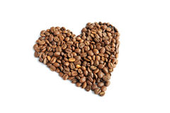 Coffee. Aroma bean coffee cooking grain heart recuperation smells taste the royalty free stock photos