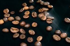 Coffee aroma smoke royalty free stock photography