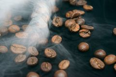 Coffee aroma smoke royalty free stock photos