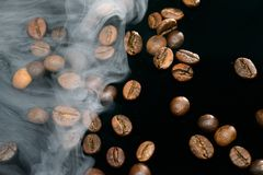 Coffee aroma smoke stock photos