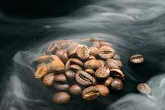 Coffee aroma smoke stock photography