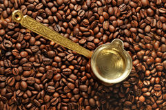 Coffee aromatic beans Stock Images