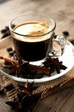 Coffee  aromatic cup with taste aroma and spices Royalty Free Stock Photo