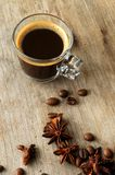 Coffee  aromatic cup with taste aroma and spices Stock Photography