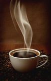 Coffee with aromatic smoke Stock Image