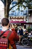 Coffee around Basilique of Saint-Sernin Stock Photos