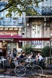 Coffee around Basilique of Saint-Sernin Stock Images