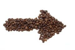 Coffee arrow Royalty Free Stock Photography
