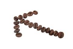 Coffee arrow. Stock Images
