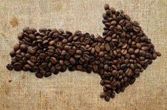 Coffee arrow symbol Stock Image