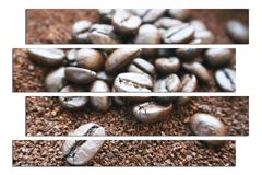 Coffee Art With Coffee Beans & Grounds High Quality