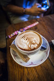 Art in a cup of Coffee Stock Photography