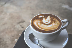 Coffee art. Coffee with the latte art Royalty Free Stock Photo