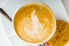 Coffee art. Special personalized coffee drawing art Royalty Free Stock Photo