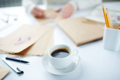 Coffee for artist Stock Photography