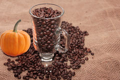 Coffee of autumn. Royalty Free Stock Image