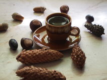 Coffee and autumn Royalty Free Stock Photos