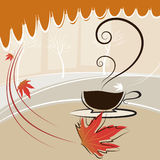 Coffee and autumn season Stock Images