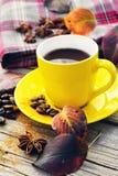 Coffee in the autumn season Stock Photo