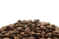 Coffee Background 2. Landscape page footer, rich mellow coffee  beans Royalty Free Stock Image